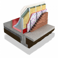 Xtratherm's Safe-R Framing Board layered product image