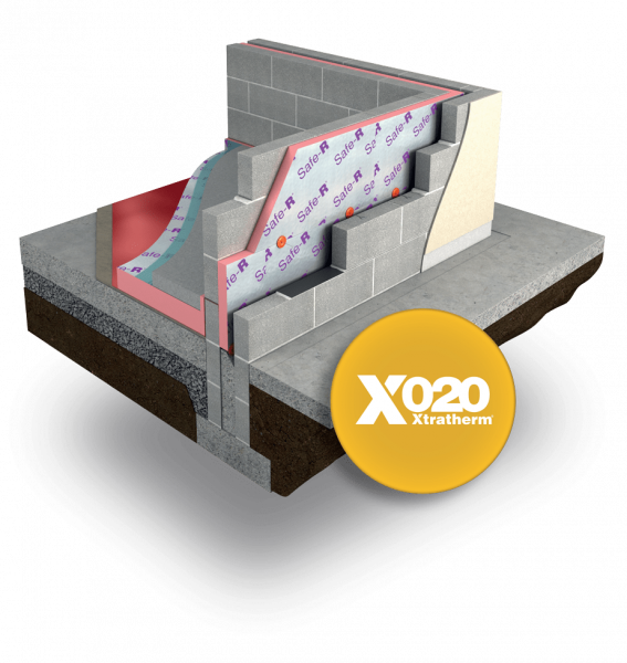 Safe-R Cavity Wall layered product image