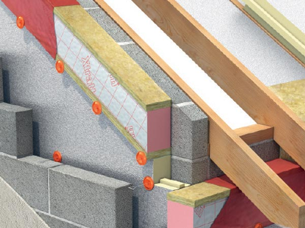 Xtratherm's cavity closer Safe-R Close-R in building